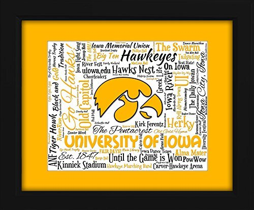 University of Iowa 16x20 Art Piece - Beautifully matted and framed behind glass ()