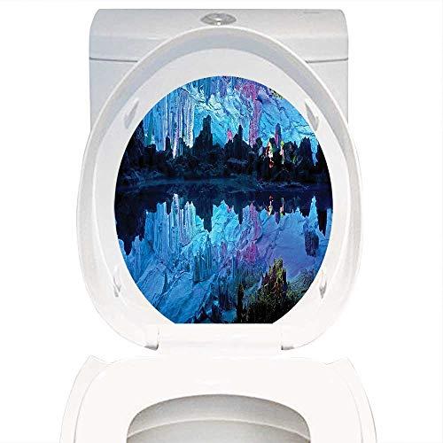 Qianhe-Home Bathroom Removable PVC Themeative Cave Decoratio