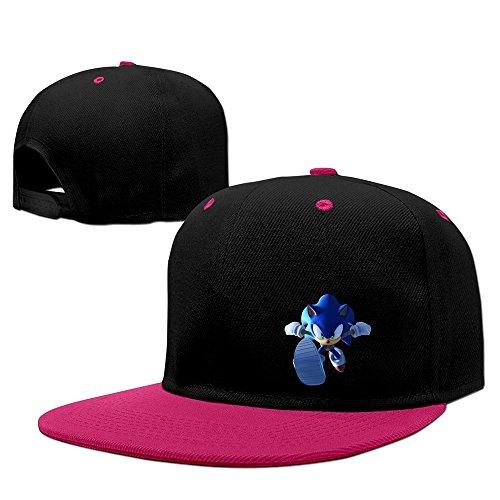 Sonic The Hedgehog Running Snapback Hip Hop Baseball Cap Hat Adjustable 100% Cotton Male/Female Pink By (Female Sonic The Hedgehog)