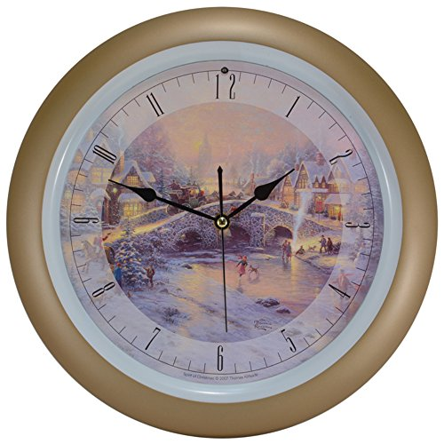 (Thomas Kinkade Spirit of Christmas Musical Christmas Carol Clock - 13