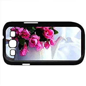 Thinking of you for Vivvy (Flowers Series) Watercolor style - Case Cover For Samsung Galaxy S3 i9300 (Black)