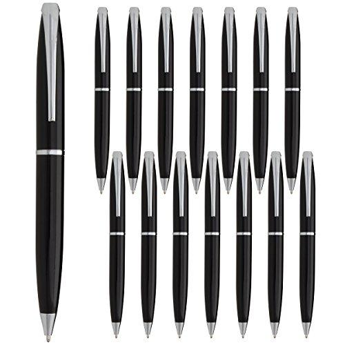Estrella (15 Pack) Twist Pens Medium Point Ballpoint Pens Retractable Metal Ink Office Supplies
