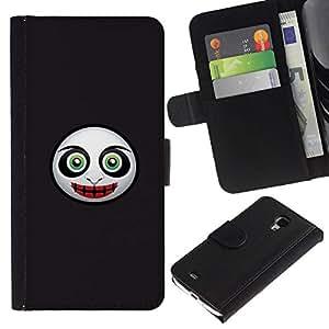 All Phone Most Case / Oferta Especial Cáscara Funda de cuero Monedero Cubierta de proteccion Caso / Wallet Case for Samsung Galaxy S4 Mini i9190 // Evil Mask Face