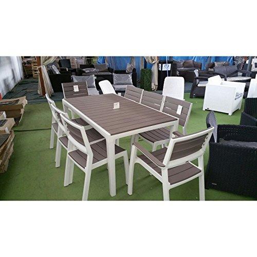 Keter Gartenmöbel-Set Modell Harmony aus Kunstharz, Tisch, 2 Sessel ...