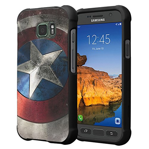 Price comparison product image Galaxy S7 Active Case,  Capsule-Case Slim Fit Snap-on (Black) Hard Case for AT&T Samsung Galaxy S7-Active SM-G891A - (Rock Star)