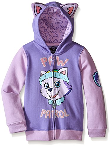 Paw Patrol Little Girls' Everest Toddler Hoodie, Lilac/Purple, 5T