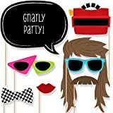 80's Retro - Photo Booth Props Kit - 20 Count