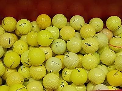 NEARLYNEWGOLFBALLS 10 Dozen Yellow Assorted Near Mint AAAA Recycled Used Golf Balls
