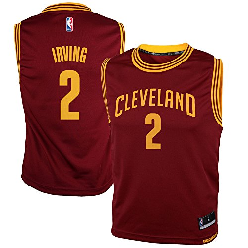 NBA Cleveland Cavaliers Kyrie Irving Youth Boys Replica Player Road Jersey, Large (14-16), Burgundy - Nba Player Jersey