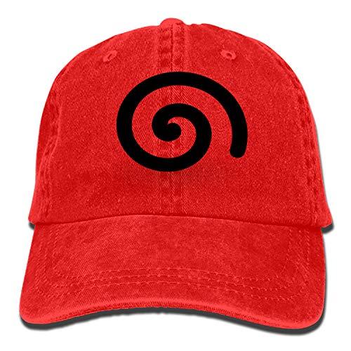 Denim Fabric Adjustable Spiral Design Swirl Symbol Sign Vintage Cowboy Cap