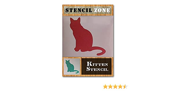 Cats Sat Looking Animal pet Mylar air Brush Painting Kids Wall Art Stencil A2 Size Stencil - Large