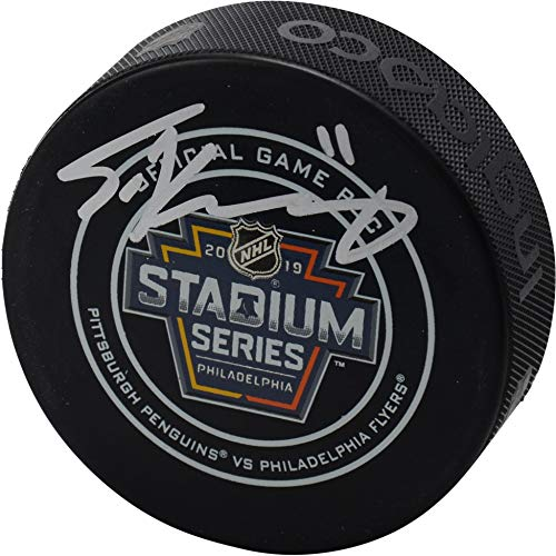 Travis Konecny Philadelphia Flyers Autographed 2019 Stadium Series Official Game Puck - Fanatics Authentic Certified