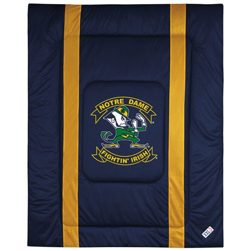 NCAA Notre Dame Fighting Irish Sideline Comforter Queen (Notre Dame Bedding)