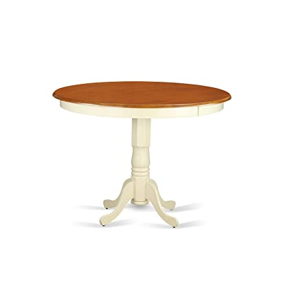 East West Furniture TRT WHI TP Trenton Counter Height Table,  Buttermilk/Cherry