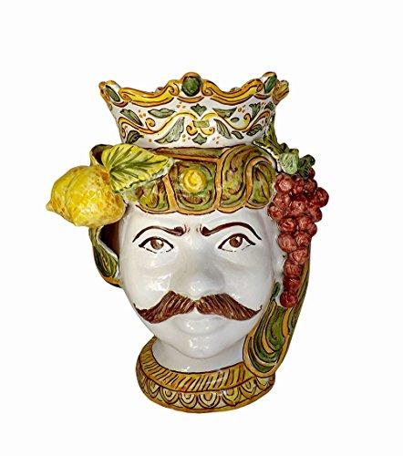 Ghenos-Vaso-antropomorfo-testa-uomo-in-ceramica-realizzato-a-mano