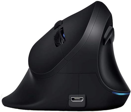 Erster Maus Ergonomisch Kabellos Vertikale Maus 2 4 G Optische Kabellose Wiederaufladbare Maus Für Große Hände Laptop Computer Pc Verstellbar 800 1200 1600 Dpi Schwarz Computer Zubehör