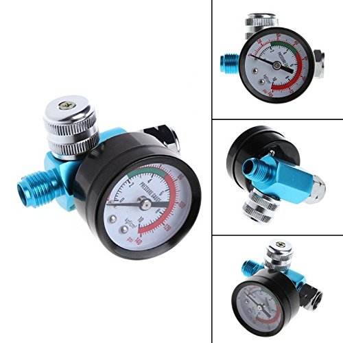 FidgetFidget Spray Gun Air Regulator Tool Pressure Gauge Diaphragm Control 1/4'' BSP HVLP
