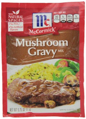 McCormick Gravy Mix, Mushroom, 0.75 Oz,Pack of ()