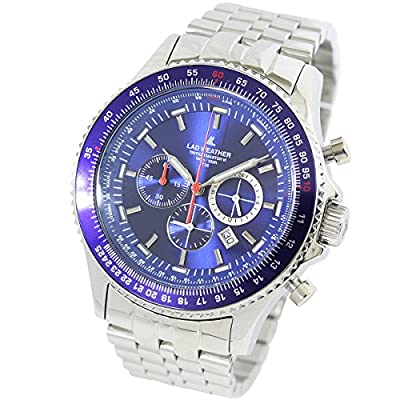[LAD WEATHER] Swiss Tritium Pilot Chronograph Circular Logarithmic Slide Rule 100 Meter's Water Resistant Men's watch