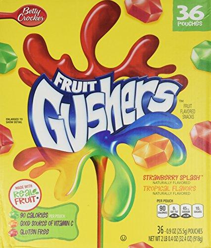 Betty Crocker Fruit Gushers 36 0.9 Oz Pouches 2lb
