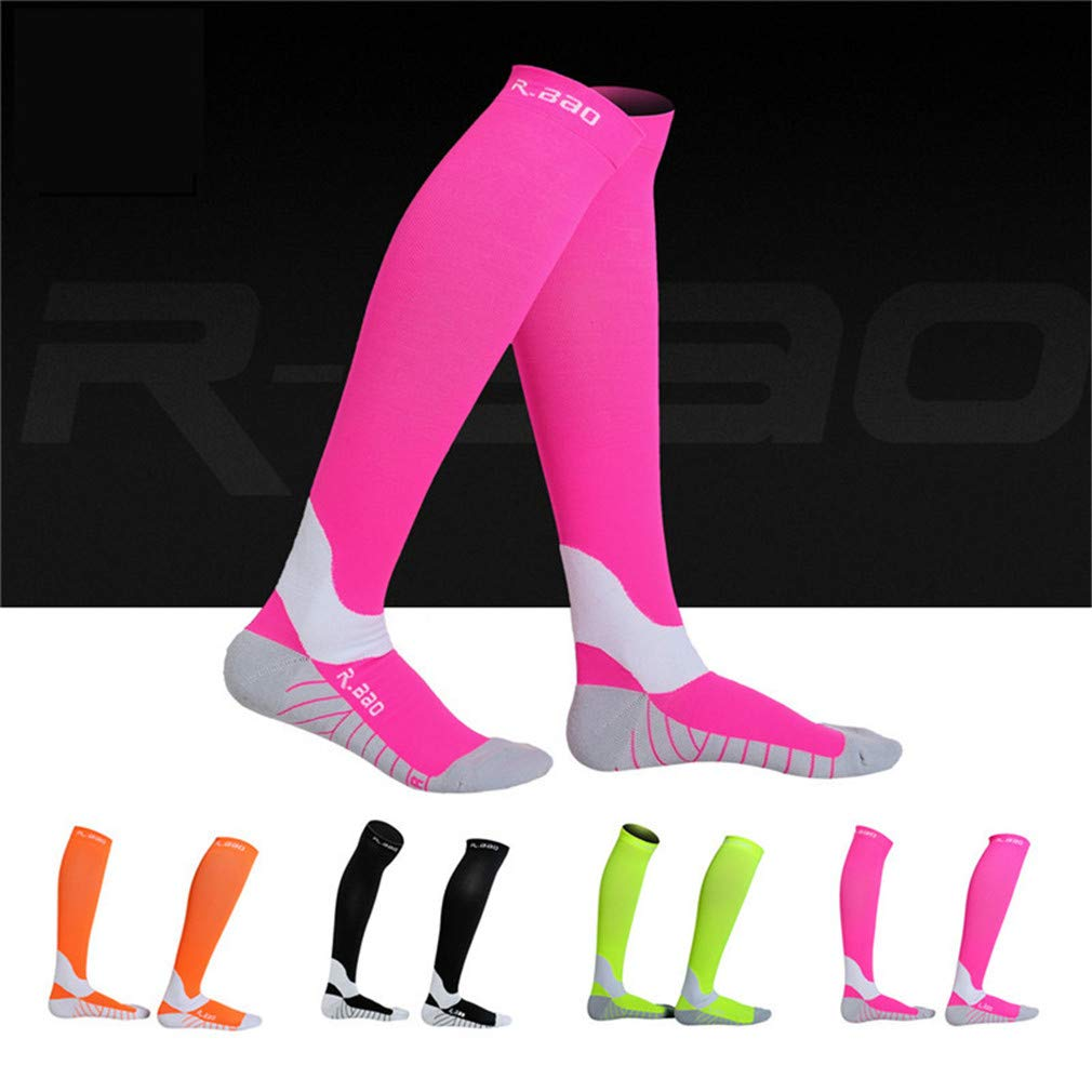 Amazon.com : En-teiping Cycling Socks Men New Fluorescence Night Running Marathon Athletics Sports Long Compression Sock : Sports & Outdoors