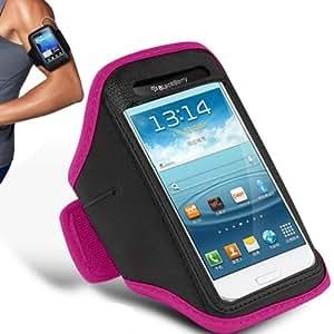 Apple iPhone 4 / 4S brazal ajustable Gimnasio Correr Correr Deporte cubierta de la caja por Mobi Plus (Hot Pink)