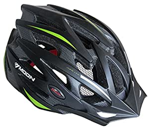 Moon Specialized 25 Vents Road Mountain Adult Bike Helmet with Adjustable Dial Fit System,XL,Matte Black