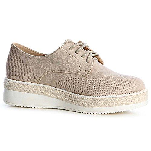 Beige Femmes Chaussures Topschuhe24 Chaussures Beige Mocassins Mocassins Topschuhe24 Femmes AqnEP8BywF