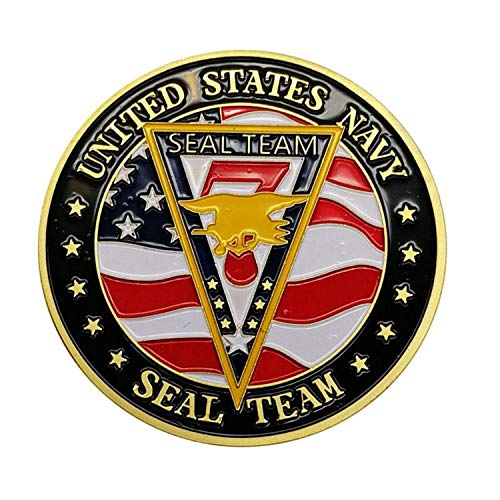 United States Navy Seal Team Coin Collector's Medallion, Jewelry Quality