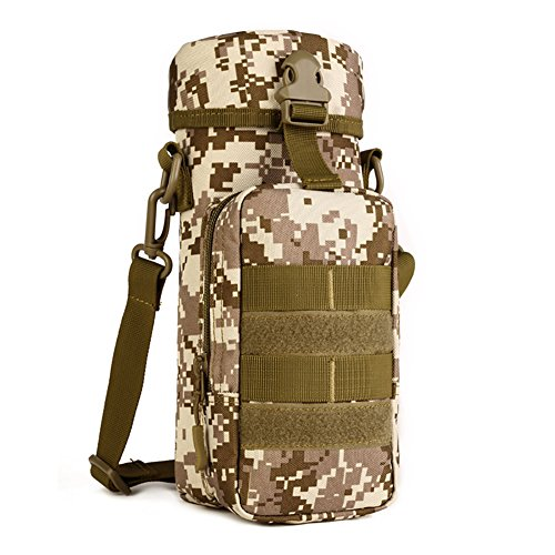 - Protector Plus Military Water Bottle Pouch Holder Tactical Kettle Gear Molle Pack Bag (Desert camo)