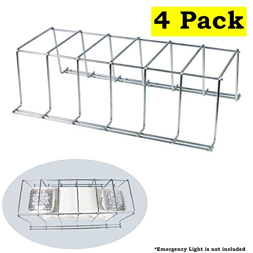 4 Pack Wire Guard Metal Cage Cover LED Exit Sign & Emergency Light Fixture 16