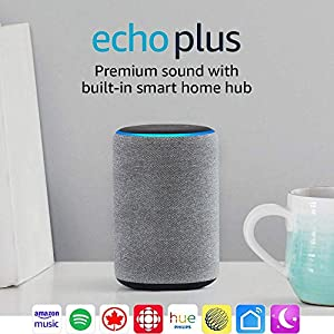 Echo Plus (2nd gen) – Premium sound with built-in smart home hub - Heather Gray