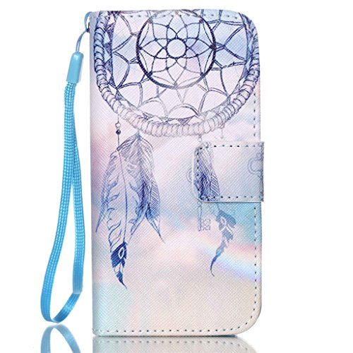 iPhone 5/5S Coque , Apple iPhone 5/5S Coque Lifetrut® [ Purple Dream Catcher ] [Wallet Fonction] [stand Feature] Magnetic snap Wallet Wallet Prime Flip Coque Etui pour Apple iPhone 5/5S