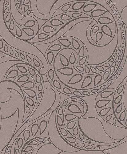York Wallcoverings 769562 Barbara Becker Raised Surface Tear Drop Paisley Wallpaper