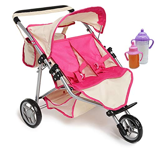 American Girl Bittys Jogging Stroller Pink Floral for 15 Baby Dolls NEW by American Girl