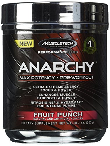 Muscletech Anarchy Fruit Punch 10.7 Ounces Powder (60 Servings) (Fruit Punch)