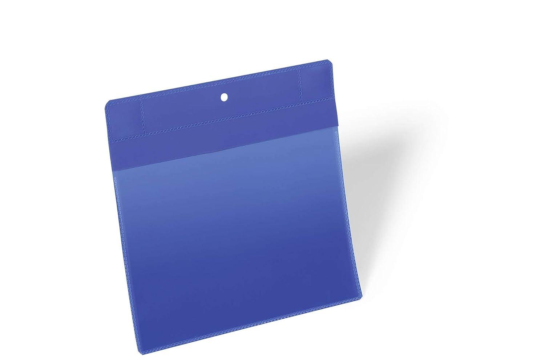 A4 hoch Durable 174407 Kennzeichnungstasche Packung /à/ 50 St/ück blau