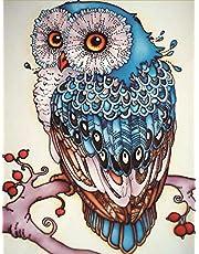 DIY 5D Diamond Schilderij op Nummer Kit Uil Home Decor Diamond Painting Schilderij Kits Voor Volwassenen Rhinestone Borduurpakketten Met Kraaltjes Arts Craft Canvas Wall Decor Stickers 30x40 cm