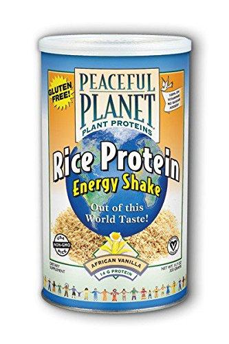Vanilla Shake Rice (VegLife Rice Protein Energy Shake Powder, African Vanilla, 333 Gram)