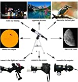 Diswa Max 90x Children Gift Students Present F36050 Refractor Space Astronomical Monocular Telescope Teleskop Astronomic with tripod