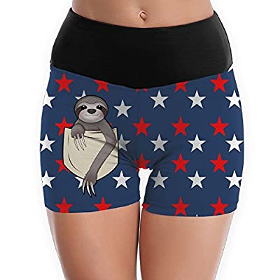 Zounpm-8 Women's Workout Yoga Hot Shorts Pocket Sloth Active Fitness Running Shorts