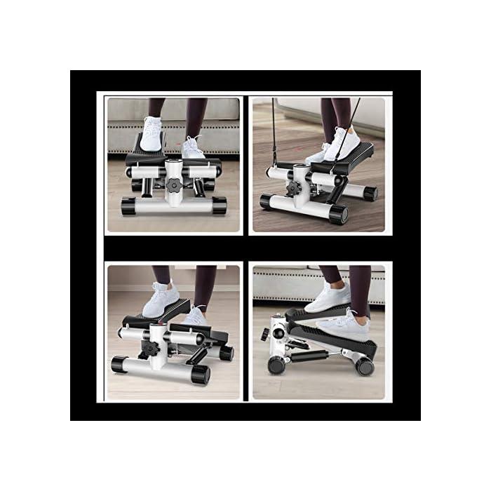 51yKdXM%2B%2BhL EJERCITADOR DE PEDAL PORTÁTIL Y EFICIENTE: Mango incorporado compacto y liviano. El espacio mínimo requerido. El entrenamiento efectivo con pedales antideslizantes texturizados y ejercicio de poca atención promueve el movimiento de las piernas y mejora la circulación de una manera que no distraiga. MULTIFUNCIÓN: el modo automático y manual (velocidad y dirección ajustables de los pedales) le permite ajustar el nivel de intensidad de su ejercicio. Máquina paso a paso con cintas de entrenamiento / Dispositivo de entrenamiento paso a paso con resistencia ajustable y consola inalámbrica - Paso a paso arriba-abajo para principiantes y usuarios avanzados, pequeños y compactos. Un monitor de pantalla LED incorporado rastrea el número de zancadas por minuto, el tiempo de ejercicio. SILENCIOSO Y SILENCIOSO: es silencioso con un movimiento de deslizamiento suave y no intrusivo. Puede disfrutar de la comodidad de hacer ejercicio sin molestar a quienes lo rodean. Nota: solo úsela mientras está sentado.