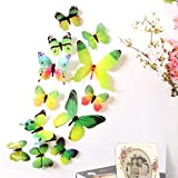 Best unknown Brand Laptops - Wall Stickers,Elaco 12pcs 3D Butterfly Rainbow Decal Wall Review