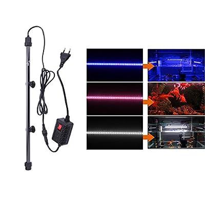 Wemore(TM) 48cm 110-240V 60 LED Aquarium LED Lighting Accesories Bright Submersible Lamp Light Bar for Fish Tank Light Decoration