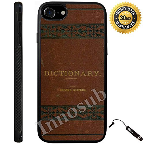 Custom iPhone 8 Case (Dictionary Book) Edge-to-Edge Rubber Black Cover with Shock and Scratch Protection | Lightweight, Ultra-Slim | Includes Stylus Pen by INNOSUB