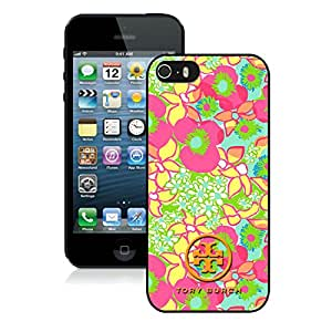 Lovely And Unique Designed Cover Case For iPhone 5S With Tory Burch 14 Black Phone Case