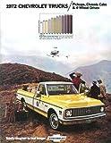 BEAUTIFUL 1972 CHEVY PICKUP & TRUCKS DEALERSHIP SALES BROCHURE - Fleetside, Setpside, Chassis-Cab, Stake, Cheyenne, Custom Deluxe, Super CS/CE-10, CS/CE-20, CS/CE 30, KS/KE-10, KS/KE-20, 2WD & 4WD - ADVERTISMENT - LITERATURE - CHEVROLET