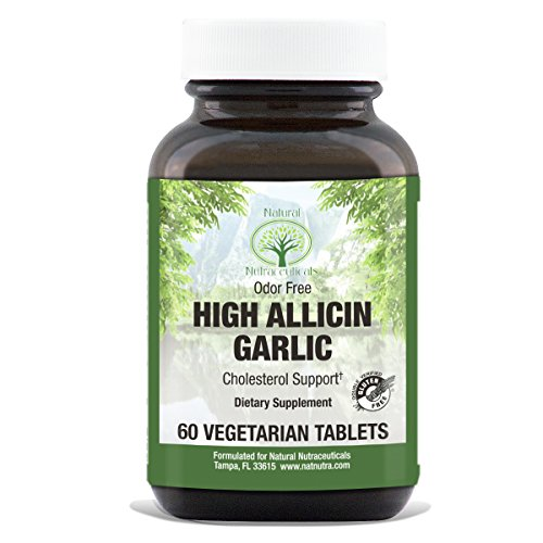 Nutraceuticals Garlic - Natural Nutra High Allicin Garlic Supplement, Odorless, Enteric Coated, 500 mg, 60 Tablets