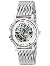 Stuhrling Original Women's 832L.01 Castorra Analog Display Automatic Self Wind Silver Watch
