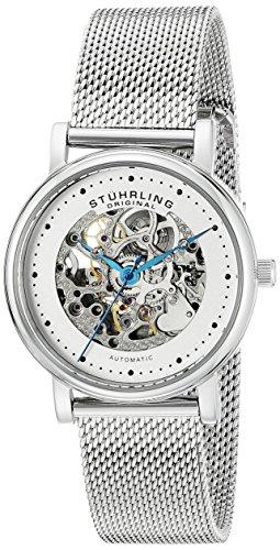 Stuhrling-Original-Castorra-832L01-Reloj-de-pulsera-Automtico-Mujer-correa-deAcero-inoxidable-Plateado